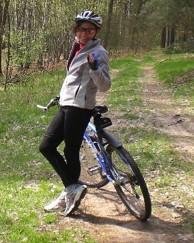 Mit dem Bike durch den Wald